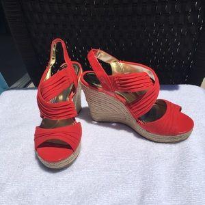 Style & Co red platform 5m vintage